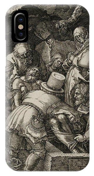 Albrecht Durer iPhone Case - The Entombment  by Albrecht Durer