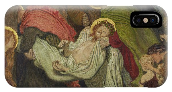 Shrouds iPhone Case - The Entombment  by Ford Madox Brown