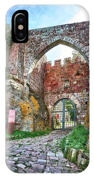 The Entrance To The Monastery Of Escornalbou IPhone Case