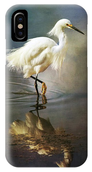 The Ethereal Egret IPhone Case
