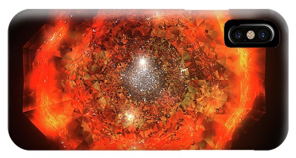 iPhone Case - The Eye Of Cyma - Fire And Ice - Frame 146 by Jules Gompertz