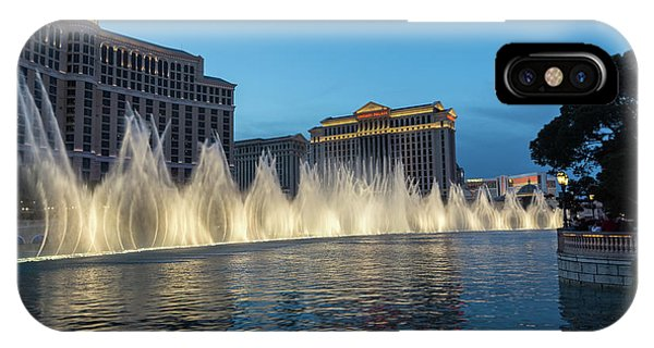The Fabulous Fountains At Bellagio - Las Vegas IPhone Case