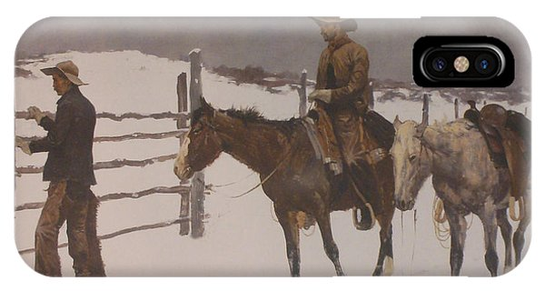 The Fall Of The Cowboy IPhone Case