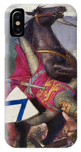 Accident iPhone Case - The Fall Of William The Conqueror by John Millar Watt