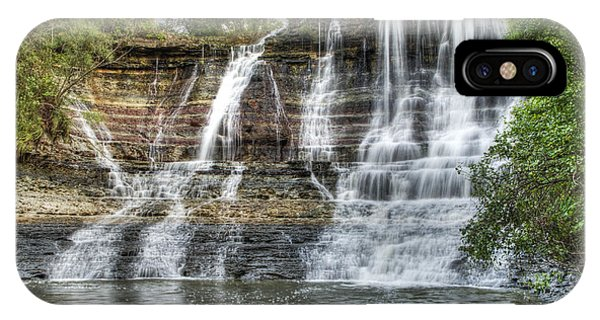 The Falls At Geary State Fishing Lake IPhone Case