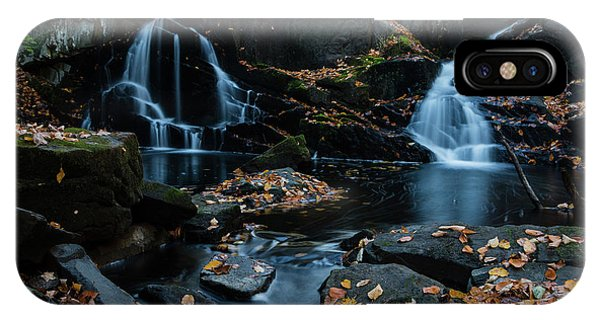 The Falls Of Black Creek In Autumn IIi IPhone Case