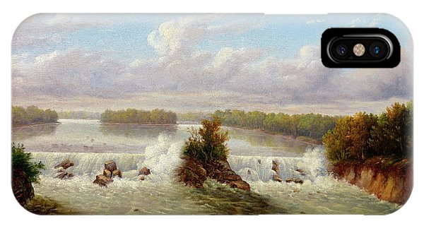 Fairy Glen iPhone Case - The Falls Of St. Anthony, 1848 by Seth Eastman