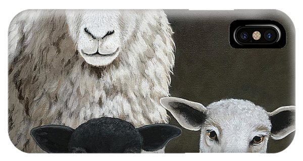 The Family - Sheep Oil Painting IPhone Case