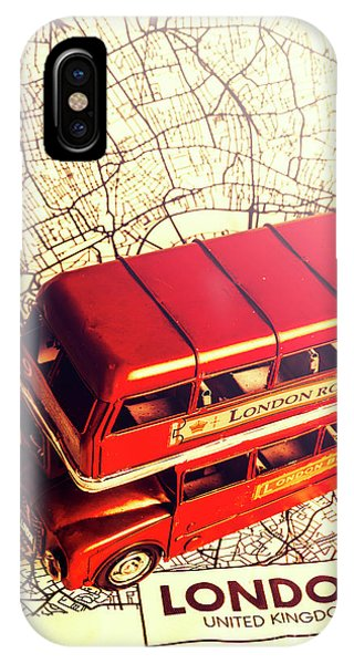 Greater London iPhone Case - The Famous Red Bus by Jorgo Photography - Wall Art Gallery