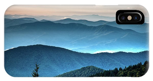 The Far Blue Smoky Mtns. IPhone Case