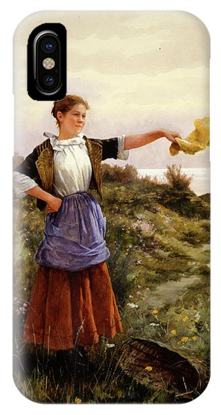 Plowing iPhone Case - The Farewell by Daniel Ridgway Knight