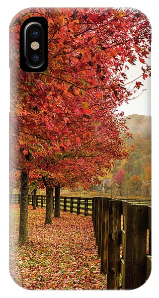 The Farm In Fall Phone Case by Sallie Woodring