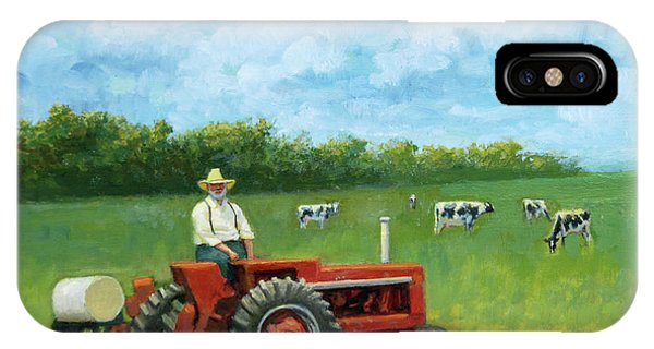 IPhone Case featuring the painting The Farmer by Mel Greifinger