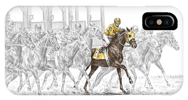 The Favorite - Thoroughbred Race Print Color Tinted IPhone Case