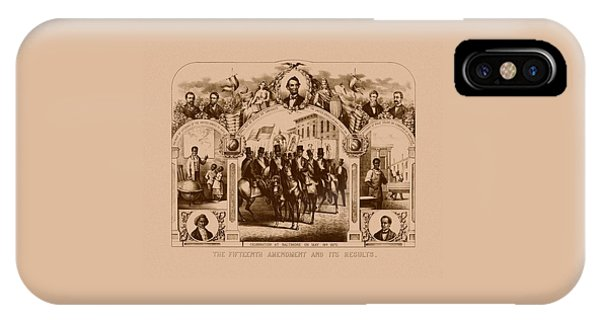 African-american iPhone Case - The Fifteenth Amendment And Its Results by War Is Hell Store
