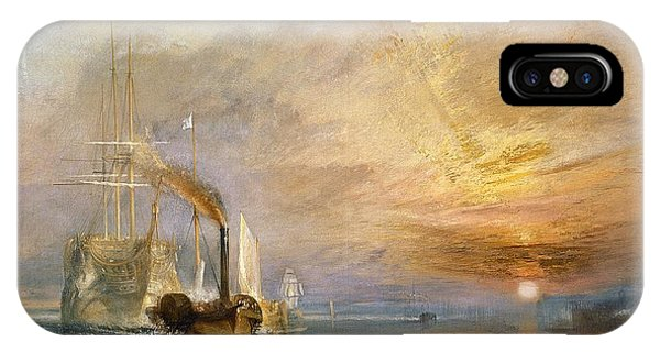 1851 iPhone X Case - The Fighting Temeraire Tugged To Her Last Berth To Be Broken Up by Joseph Mallord William Turner