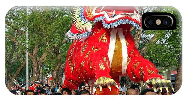The Fire Lion Procession In Southern Taiwan IPhone Case