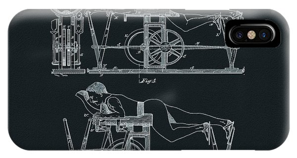 The First Exercise Machine Illustration IPhone Case