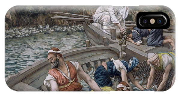 Life Of Christ iPhone Case - The First Miraculous Draught Of Fish by Tissot