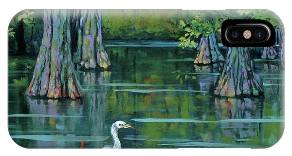 Crane iPhone Case - The Fisherman by Dianne Parks