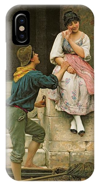 Couple iPhone Case - The Fishermans Wooing From The Pears Annual Christmas by Eugen Von Blaas