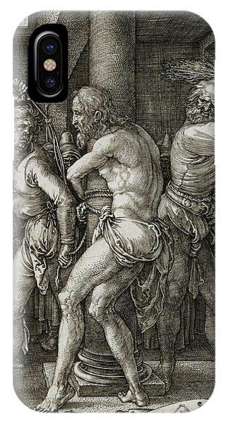 Albrecht Durer iPhone Case - The Flagellation by Albrecht Durer