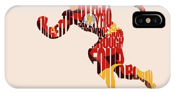 Mixed-media iPhone Case - The Flash by Inspirowl Design