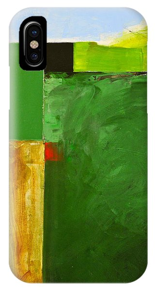 IPhone Case featuring the painting The Flat Lands by Cliff Spohn