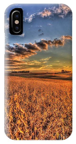 The Fleeting Sunset Missouri Soybean Farming Art  IPhone Case