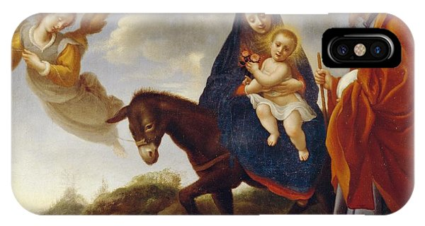Mary Mother Of God iPhone Case - The Flight Into Egypt by Carlo Dolci