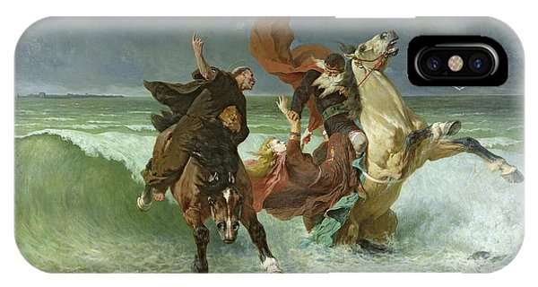 Accident iPhone Case - The Flight Of Gradlon Mawr by Evariste Vital Luminais