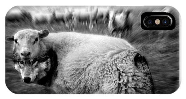 The Flock Is Safe Grayscale IPhone Case