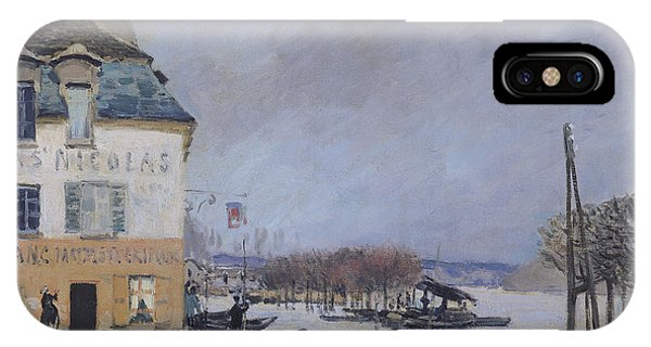 Flooded iPhone Case - The Flood At Port Marly by Alfred Sisley