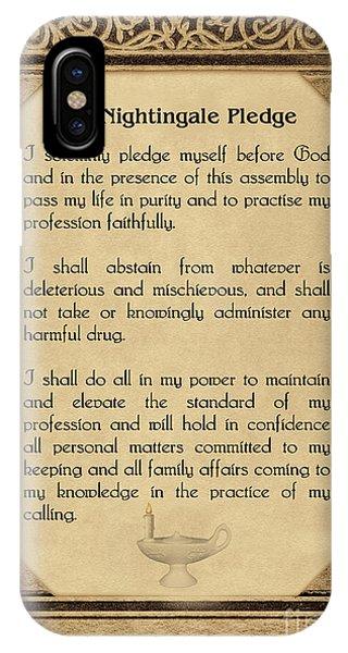 The Florence Nightingale Pledge 1893 IPhone Case