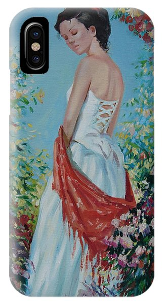 Ignatenko iPhone Case - The Florist In A Red Kerchief by Sergey Ignatenko