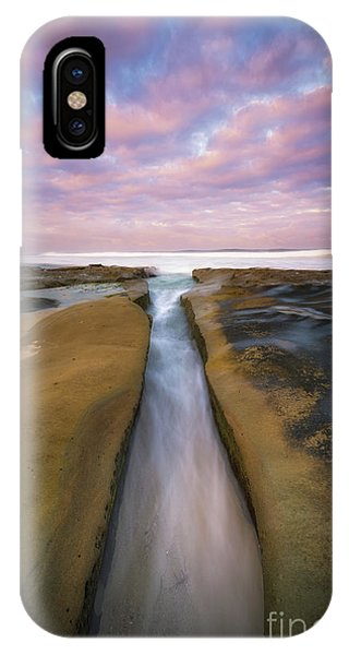 Split Rock iPhone Case - The Flow  by Michael Ver Sprill