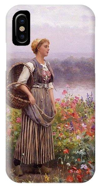 iPhone Case - The Flower Girl Daniel Ridgway Knight by Eloisa Mannion
