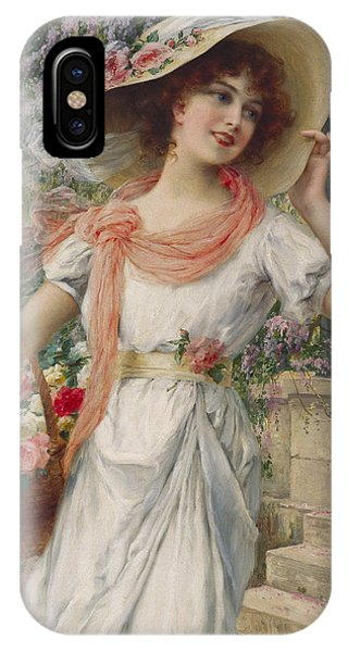 Garden iPhone X Case - The Flower Girl by Emile Vernon