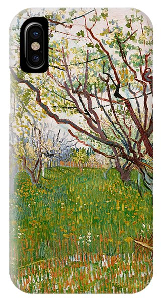 Orchard iPhone Case - The Flowering Orchard, 1888 by Vincent Van Gogh