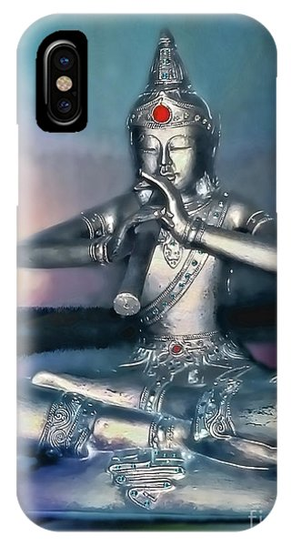 The Flute Player - Evening Melody IPhone Case