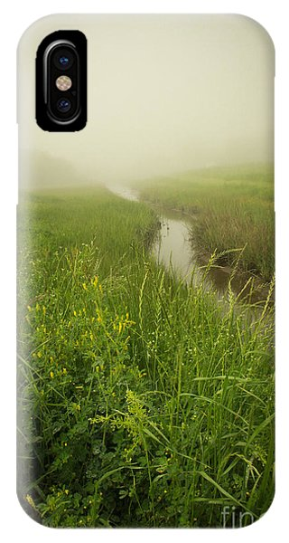 IPhone Case featuring the photograph The Foggy Trail by Sandy Adams