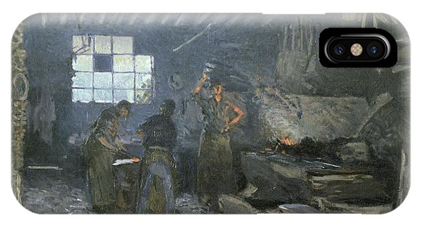 Anvil iPhone Case - The Forge by Alfred Sisley
