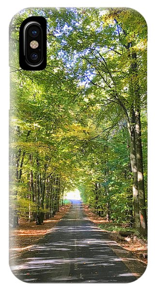 IPhone Case featuring the photograph Road In The Forrest In Austria by Chris Feichtner
