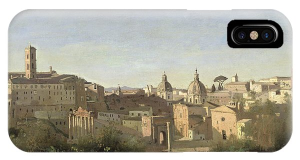 See iPhone Case - The Forum Seen From The Farnese Gardens by Jean Baptiste Camille Corot