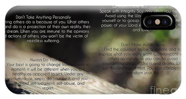 The Four Agreements 4 IPhone Case