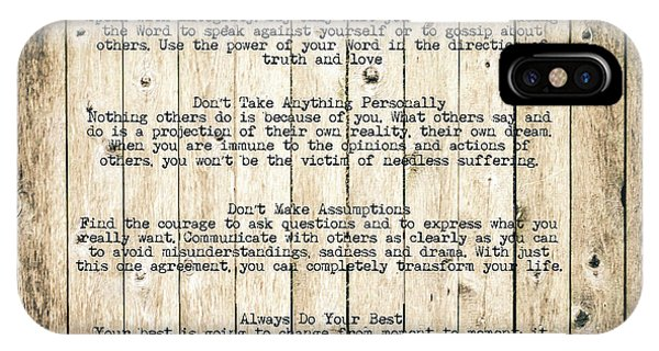 The Four Agreements 8 IPhone Case