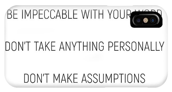 The Four Agreements #minismalism #shortversion IPhone Case