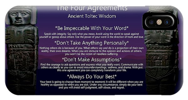 The Four Agreements Poster IPhone Case