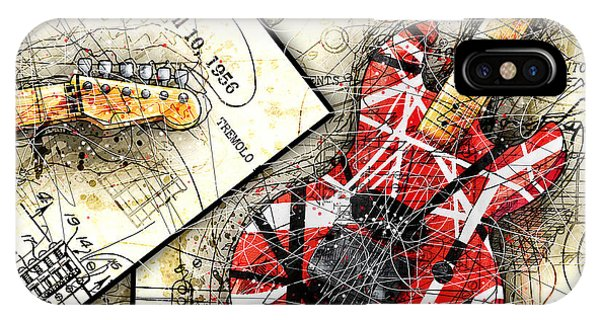 Van Halen iPhone Case - The Frankenstrat by Gary Bodnar