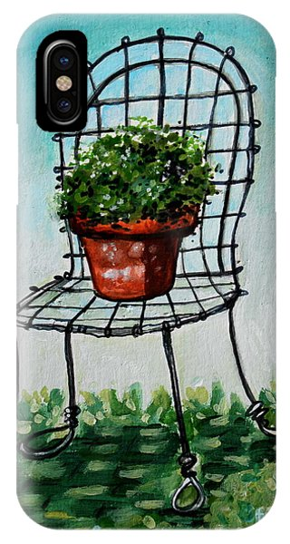 The French Garden Cafe Chair IPhone Case